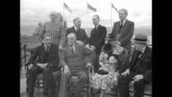 British Secretary of State for Foreign Affairs Anthony Eden sitting with US President Franklin Roosevelt at La Citadelle / Eden Roosevelt Clementine...