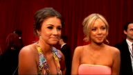 red carpet arrivals and interviews Sacha Parkinson posing for photographs / Interview with Parkinson and Brooke Vincent SOT On their outfits / On...