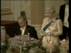 British soldiers killed and injured in separate attacks BBC London Buckingham Palace Queen Elizabeth II standing and speaking at state banquet for...