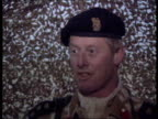 British troops reaction SUNRISE SAUDI ARABIA MS British soldiers with equipment along towards GV Camp INT/TENT CMS Brigade Commander Brigadier Chris...
