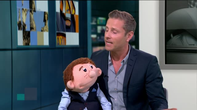 British ventriloquist who won 'America's Got Talent' tours the UK ENGLAND London GIR INT Paul Zerdin LIVE studio interview SOT