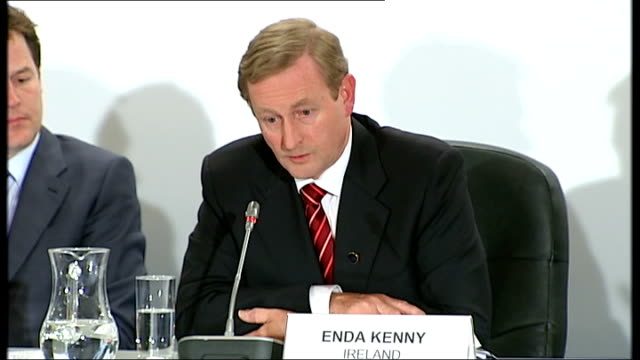 BritishIrish Council summit on energy policy and economic recovery press conference Question from press to Enda Kenny SOT When you have been talking...