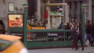 Broadway and Lafayette Subway Entrance in Manhattan