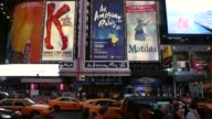Broadway theatres drew more than 13 million attendees a new record and sold $1365 billion worth of tickets in the theatre year which ended Sunday