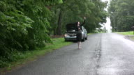 Broke down looking for cell phone signal