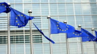 Broken EU flag as a symbol for the economic crisis.