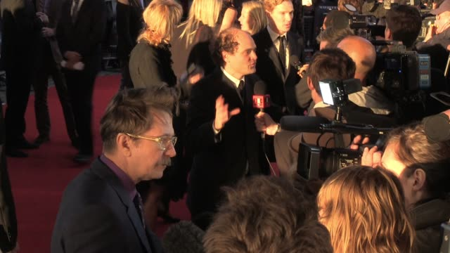 Gary Oldman and Benedict Cumberbatch talk to news crews at the UK Premiere of Tinker Tailor Soldier Spy BRoll Gary Oldman and Benedict Cumberbatch at...
