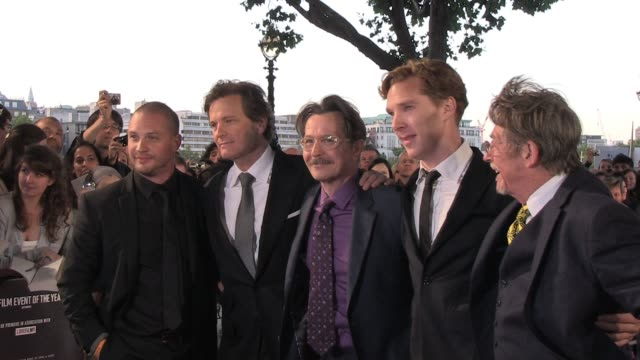 Group photo of the cast from the movie at the UK Premiere of Tinker Tailor Soldier Spy BRoll Cast group photo at BFI Southbank on September 13 2011...