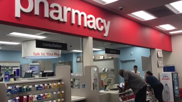 BRoll of CVS entrance and pharmacy