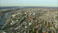 AERIAL WS Bronx and Harlem River / New York City, New York, USA