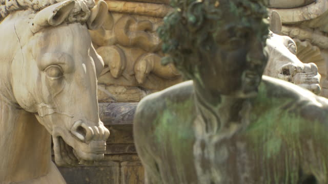 Bronze and stone statues, Florence, Italy