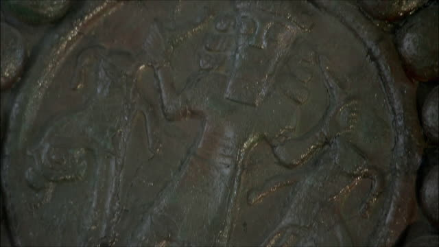 ECU TU TD Bronze plaque with Gilgamesh in National Museum of Iran, Tehran, Iran