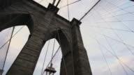 Brooklyn Bridge Stormy Silhouette