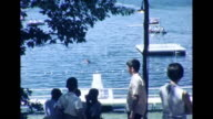 1964 Brothers Roughhousing at Summer Camp