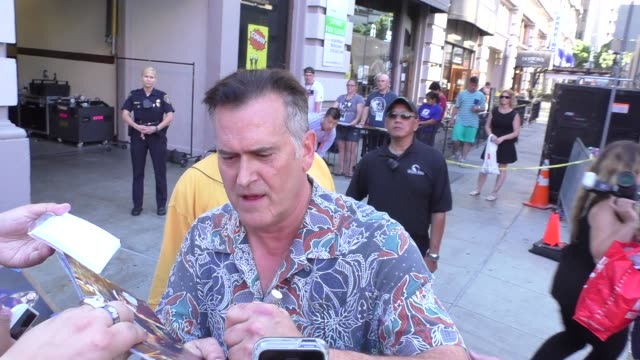 INTERVIEW Bruce Campbell talks about Evil Dead Cosplay Costume outside Conan O'Brian at Comic Con in Celebrity Sightings in San Diego