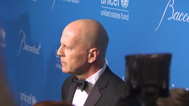 Bruce Willis at the UNICEF Ball Honoring Jerry Weintraub at Beverly Hills CA
