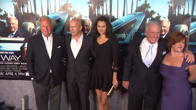 Bruce Willis Emma Heming Jerry Weintraub and Jane Morgan at the 'His Way' Premiere at Los Angeles CA