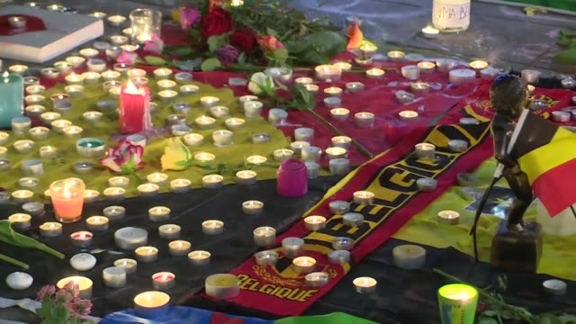 Brussels I love you says the message written in chalk on a historic city square a place for raucous celebration that has become a scene of grief...