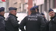 Brussels targeted by suspected suicide bombers Showing exterior shots police emergency services near blast scene at Brussels Maalbeek Metro Station...