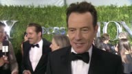 INTERVIEW Bryan Cranston finds his mom and talks about not feeling pressure at this year's awards at 2015 Tony Awards Arrivals at Radio City Music...