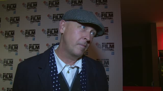 INTERVIEW Bryn Higgins on the movie epilepsy and Agyness Deyn at Electricity world premiere on 14th October 2014 in London England