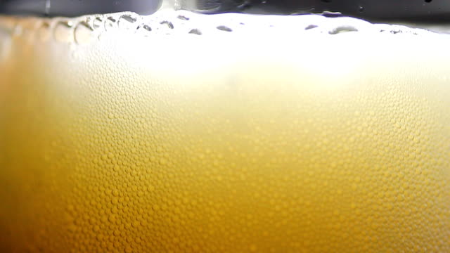 bubble beer close up