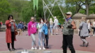 Bubble playing in Central Park, New York City