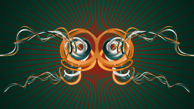 ABSTRACT 3D BuckGround (GreenRing)
