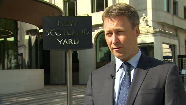 Police reveal suspect had a fourfoot sword New Scotland Yard DAY Commander Dean Haydon interview SOT re Buckingham Palace attack