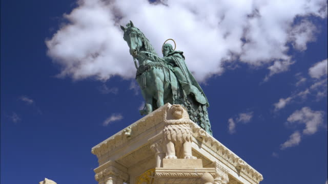 Budapest Bronze Sculpture of Stephen I of Hungary on the Fisherman's Bastion