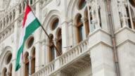 Budapest Hungarian Parliament Building Facade Detail