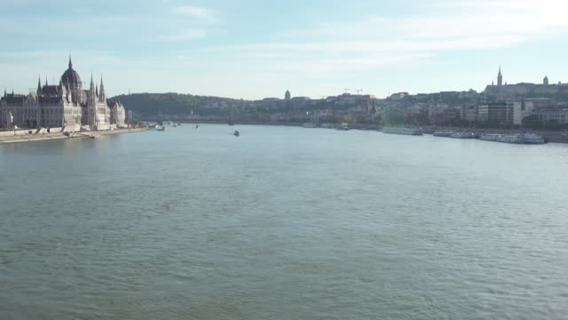 Budapest Hungary Danube with copy space
