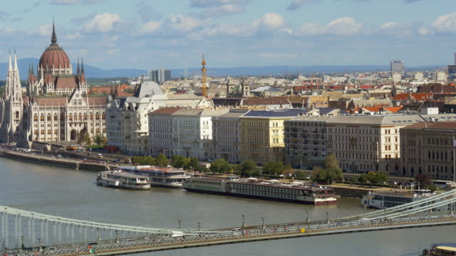 Budapest Pest Riverside And The Parliament