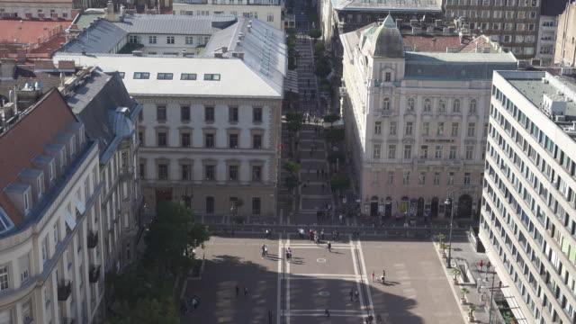 Budapest Saint Stephan square high angle view