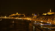 Budapest Skyline From The North At Night