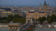 Budapest Skyline With Chain Bridge And St. Stephen's Basilica