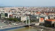 Budapest Skyline with Elisabeth Bridge and Inner City Parish Church