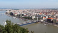 Budapest Skyline With Elisabeth Bridge And The Parliament Building