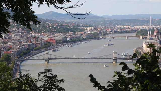 Budapest, the River Danube, and the Chain bridge