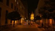 Budapest Zrínyi Utca And St. Stephen's Basilica At Night