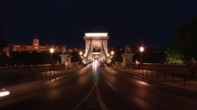 BudapestNight view of Chain Bridge in Budapest Hungary