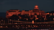 BudapestNight view of Royal Palace in Budapest Hungary