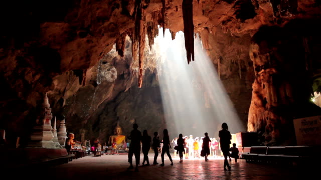 Buddha images in Khao Luang cave, Thailand