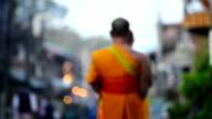 Buddhism Monk walking