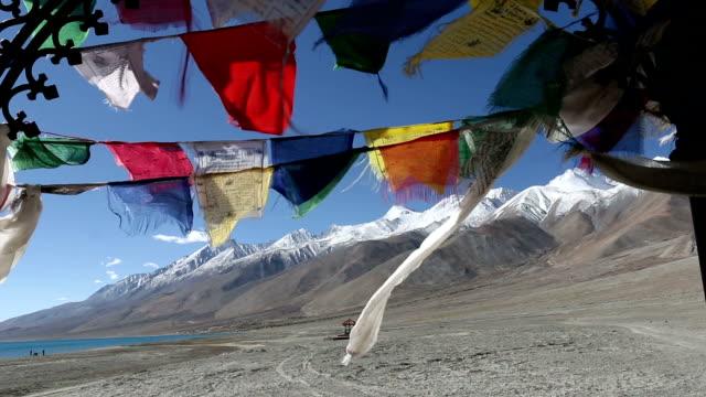 Buddhist praying flags