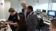 Reaction to National Insurance rises Dudley Philip Hammond MP with students on visit to engineering college Philip Hammond MP interview SOT I believe...
