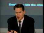 Election prediction Smith Square Conservative Central Office Portillo press conference SOT Brown has spent less money than he has intended to...