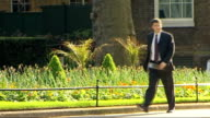 Cabinet arrivals ENGLAND London Downing Street EXT John Hutton MP arrives / Geoff Hoon MP arrives / Douglas Alexander MP arrives / Shaun Woodward MP...