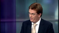 speech ENGLAND London GIR INT Danny Alexander MP LIVE STUDIO interview SOT Disappointing growth figures this year terrible inheritance from Labour...