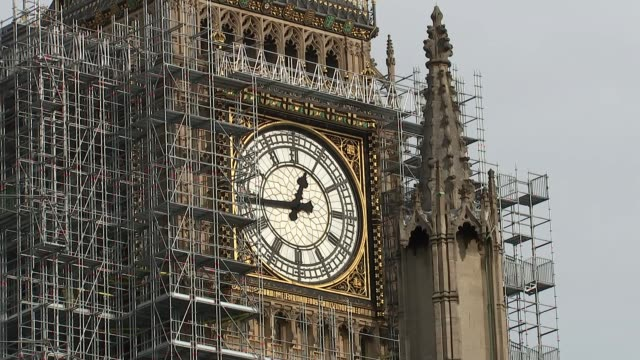 What do Hammond's constiuents want to hear from the Chancellor Date unknown Westminster EXT Big Ben shrouded in scaffolding